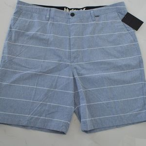 Hurley light denim striped shorts bermuda blue 40